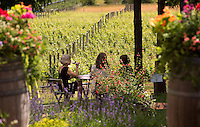 The Tasting Room at Symphony Vineyard overlooks the family-owned vineyard.