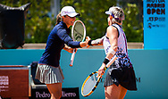 Iga Swiatek of Poland and Bethanie Mattek-Sands of the United States playing doubles at the Mutua Madrid Open 2021, Masters 1000 tennis tournament on May 4, 2021 at La Caja Magica in Madrid, Spain - Photo Rob Prange / Spain ProSportsImages / DPPI / ProSportsImages / DPPI