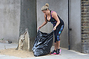 EXCLUSIVE<br /> <br /> Celebs go dating Love expert Nadia Essex out in London yesterday working out to lose weight , Nadia herself no stranger to trying to find love hopes mr right may notice her!!!, also seen putting out bins before leaving to on run with workout in London yesterday<br /> ©Exclusivepxi Media