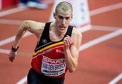 Jan van den Broeck of Belgium competes in the Men's 800 metres heats on day one of the 2017 European Athletics Indoor Championships at the Kombank Arena on March 3, 2017 in Belgrade, Serbia. Photo by Vid Ponikvar / Sportida