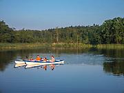 Jezioro Pomorze we wsi Kukle, Polska<br /> Pomeranian lake in the village of Kukle, Poland