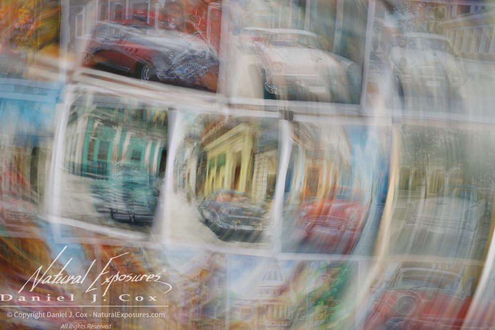 Spinning art at the Artist Market in Havana, Cuba.