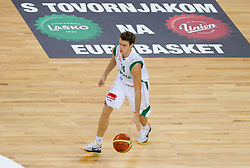 Goran Dragic of Slovenia during friendly basketball match between National teams of Slovenia and Montenegro of Adecco Ex-Yu Cup 2011 as part of exhibition games before European Championship Lithuania 2011, on August 7, 2011, in Arena Stozice, Ljubljana, Slovenia. Slovenia defeated Crna Gora 86-79. (Photo by Vid Ponikvar / Sportida)