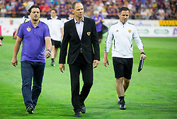Zlatko Zahovic, Ante Simundza, head coach of Maribor and Sasa Gajser prior to the First Leg football match between NK Maribor and FC Astana in Second qualifying round of UEFA Champions League, on July 14, 2015 in Stadium Ljudski vrt, Maribor, Slovenia. Photo by Vid Ponikvar / Sportida