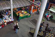 The soon to disappear market at Elephant & Castle shopping centre in the London borough of Southwark.