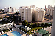 View over swimming pool from Holiday Inn hotel, Muscat, Oman 1998