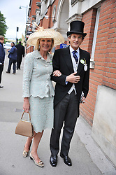 NIGEL HAVERS and his wife GEORGIANA at day 2 of the 2011 Royal Ascot Racing festival at Ascot Racecourse, Ascot, Berkshire on 15th June 2011.