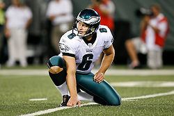 Philadelphia Eagles punter Sav Rocca #6 during the NFL game between the Philadelphia Eagles and the New York Jets on September 3rd 2009. The Jets won 38-27 at Giants Stadium in East Rutherford, NJ.  (Photo By Brian Garfinkel)