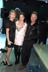 Left to right, MICKEY SUMNER, KATE SUMNER and their father STING at a party hosted by Kate Sumner at Zadig & Voltaire to celebrate the brand's arrival in London at 182 Westbourne Grove, London W11 on 14th October 2008.