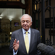UNITED KINGDOM, London: Ken Livingstone said he expects to be expelled from the Labour Party over controversial comments he made about Adolf Hitler and Zionism. The former Mayor of London also saidhe will challenge the decision through a judicial review if he does get kicked out. Livingstone repeatedly defended his comments as he arrived at a disciplinary hearing where he will learn if he has a future in the party. He said they were misinterpreted by both fellow Labour politicians and the media. (Newscom TagID: nzphotos023233.jpg) [Photo via Newscom]