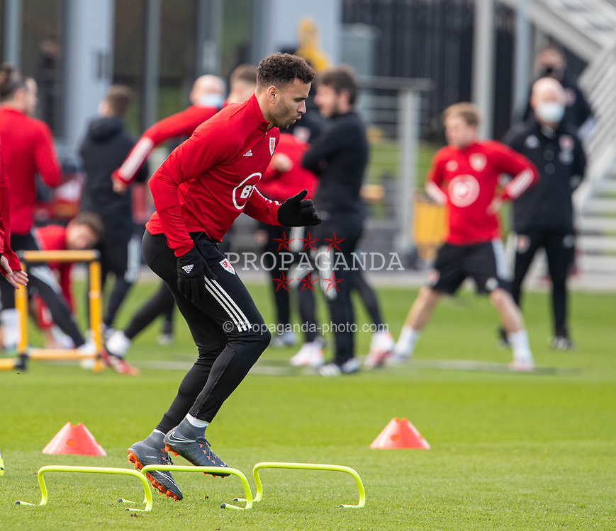 CARDIFF, WALES - Tuesday, March 23, 2021: Wales' Hal Robson-Kanu during a training session at the Vale Resort ahead of the FIFA World Cup Qatar 2022 Qualifying game against Belgium. (Pic by David Rawcliffe/Propaganda)