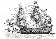 HMS Sovereign of the Seas was a 90-gun, first rank ship of the line in the British Navy. A ship-of-the-line was a type of naval warship constructed from the 17th century through the mid-19th century