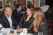 IAN WACE; SAFFRON ALDRIDGE; JEMIMA KHAN, Charles Finch and  Jay Jopling host dinner in celebration of Frieze Art Fair at the Birley Group's Harry's Bar. London. 10 October 2012.