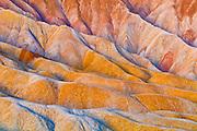 Eroded hills below Zabriskie Point, Death Valley National Park. California USA