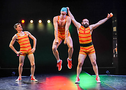 Pictured: Splash Test Dummies (Australia)<br /> <br /> Performers from across the globe came together at the Edinburgh Festival to mark the 250th anniversary of circus performances.<br /> <br /> © Dave Johnston / EEm