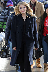 Chloe Moretz looks stylish as she promotes her film at the Sundance Film Festival. Chloe wore a long jacket and all black outfit as she was seen strolling down Main St in Park City. 21 Jan 2018 Pictured: Chloe Moretz. Photo credit: Atlantic Images/ MEGA TheMegaAgency.com +1 888 505 6342
