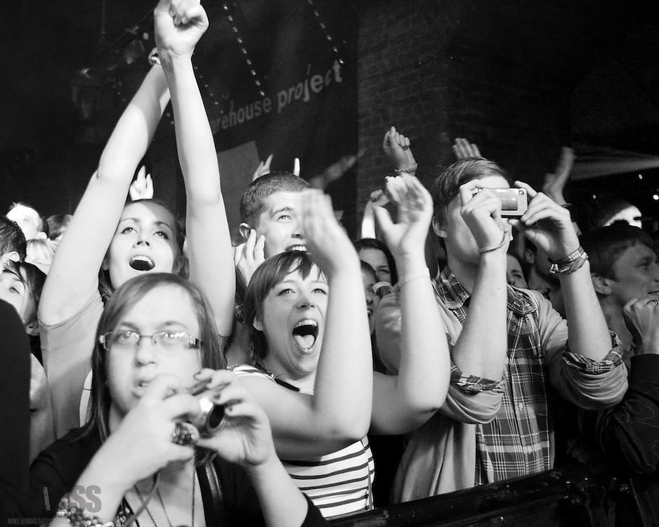 Audience at the Warehouse Project, Manchester, UK, 2010-09-23