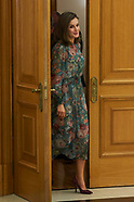 101717 Queen Letizia attends audiences at Zarzuela Palace