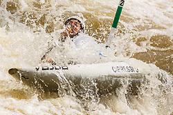 Cipressi Stefano (ITA) competes in Semi-Finals during Day 3 of 2018 ECA Kayak - Canoe Slalom European Championships, on June 3rd, 2018 in Troja , Prague, Czech Republic. Photo by Grega Valancic / Sportida