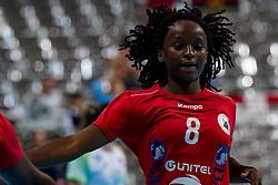 03-12-2019 JAP: Slovenia - Angola, Kumamoto<br /> Third match 24th IHF Women's Handball World Championship, Slovenia loss the third match against Angola with 24 - 33. / Helena Paulo #8 of Angola