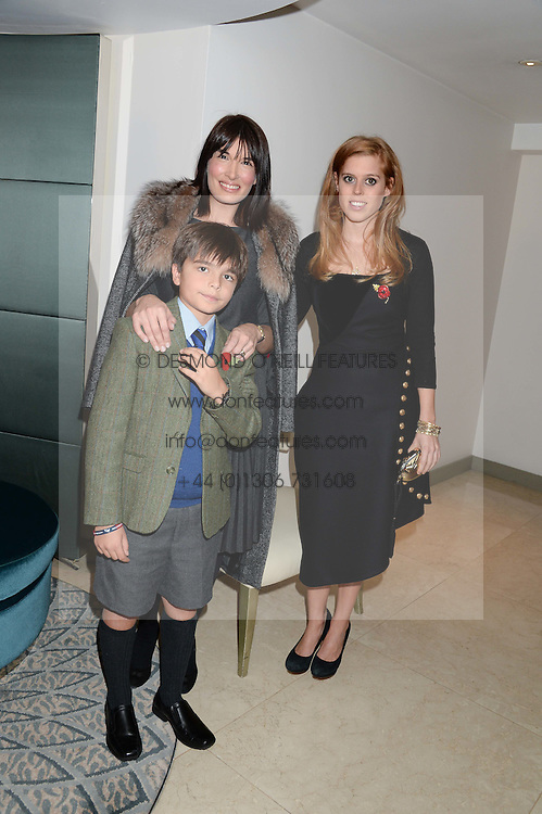 JACK REA, his mother and PRINCESS BEATRICE OF YORK at Fashion For The Brave at The Dorchester, Park Lane, London on 8th November 2013.