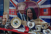 Royal family souvenirs and merchandise on sale in a tourist gift shop window as the royal town of Windsor gets ready for the royal wedding between Prince Harry and his American fiance Meghan Markle, on 14th May 2018, in London, England. (Photo by Richard Baker / In Pictures via Getty Images)