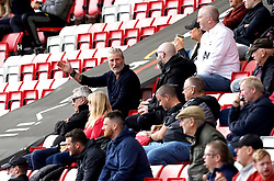 Former football Robbie Savage in the stands during the UEFA Youth League, Group F match at Leigh Sports Village, Manchester. Picture date: Wednesday September 29, 2021.