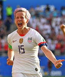 USA's Megan Rapinoe during the 2019 FIFA Women's World Cup Round Of 16 match Spain v USA at Stade Auguste Delaune on June 24, 2019 in Reims, France. USA won 2-1 reaching the quarter-finals. Photo by Christian Liewig/ABACAPRESS.COM