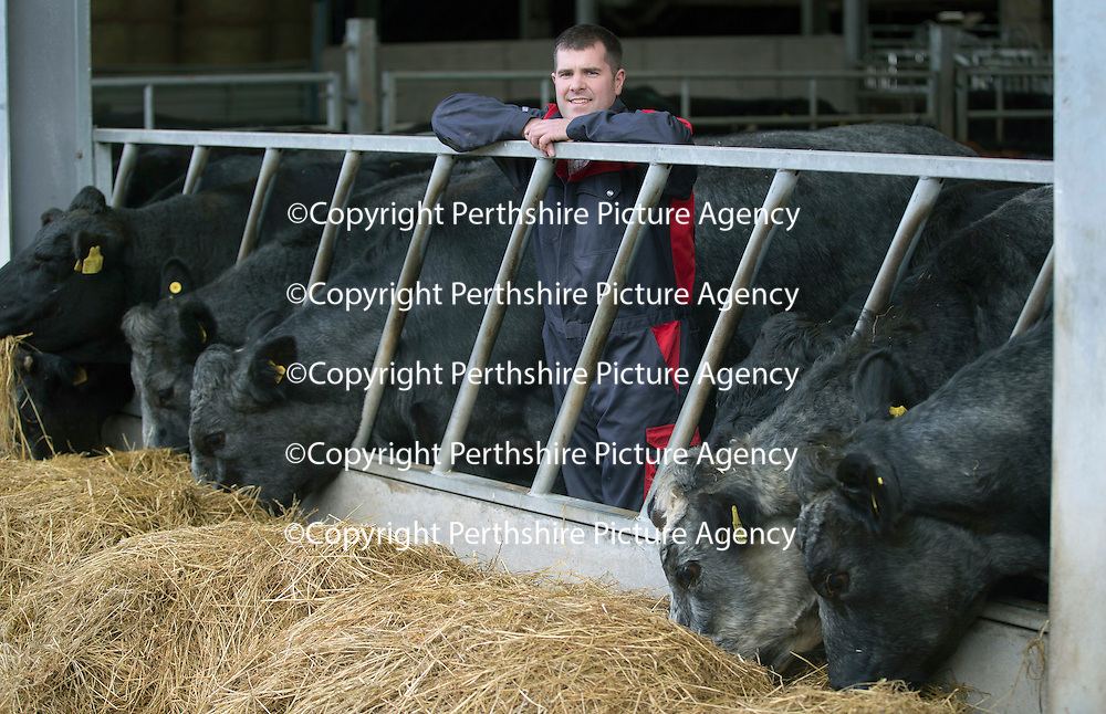 Farmer Graham Cameron of Easter Bonhard, Scone...04.11.14<br /> Picture by Graeme Hart.<br /> Copyright Perthshire Picture Agency<br /> Tel: 01738 623350  Mobile: 07990 594431