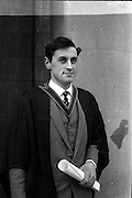 12/01/1963<br /> 01/12/1963<br /> 12 January 1963<br /> Degrees at UCD, Dublin. Mr Geoghegan, Seapark House, Clontarf who received degree of M.V.B. at the ceremony.