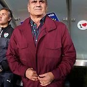 Bursaspor's coach Senol Gunes during their Turkish superleague soccer match Fenerbahce between Bursaspor at the Sukru Saracaoglu stadium in Istanbul Turkey on Monday 20 April 2015. Photo by Kurtulus YILMAZ/TURKPIX