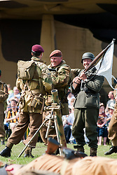 Reenactors of the NWW2A during a 1940s wartime weekend at Fort Paull on Bank Holiday Monday ..5 May 2013.Image © Paul David Drabble