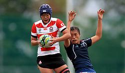 Japan's Aoi Mimura (left) and Hong Kong's Chow Mei Nam