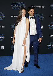 Julieth Restrepo and Sebastian Zuleta at the World premiere of Disney's 'Star Wars: The Rise Of Skywalker' held at the Dolby Theatre in Hollywood, USA on December 16, 2019.