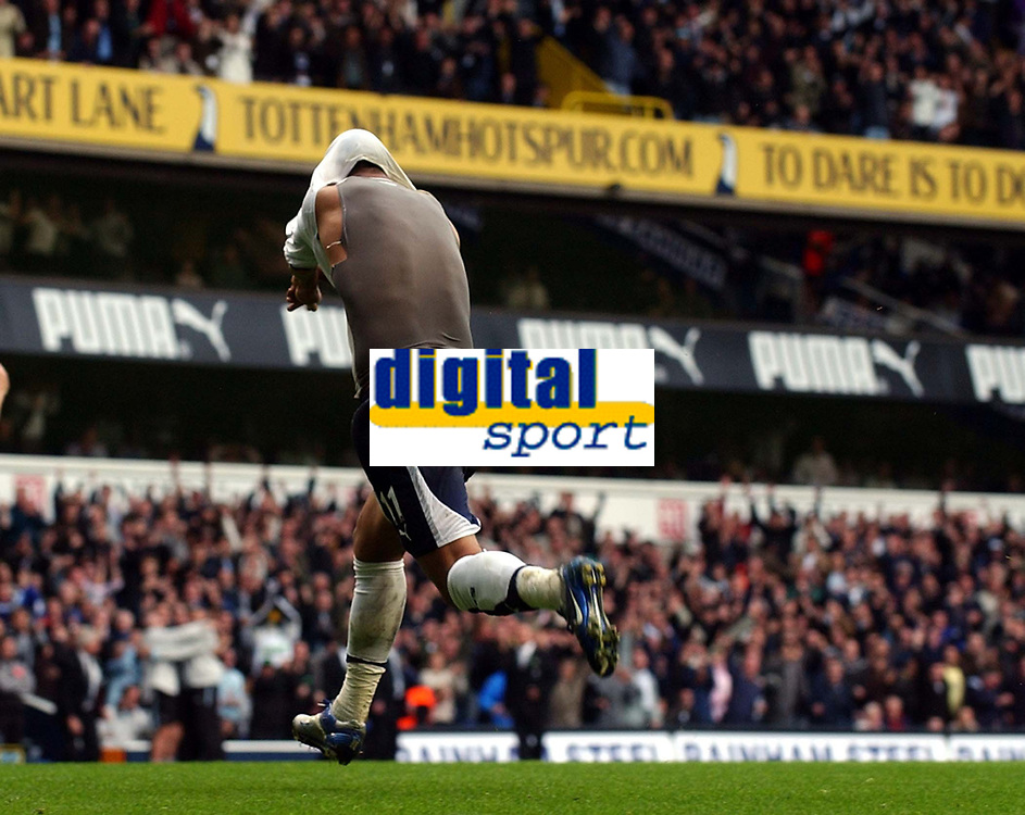 Photo: Olly Greenwood.<br />Tottenham Hotspur v West Ham United. The Barclays Premiership. 22/10/2006. Tottenham's Mido celebrates scoring