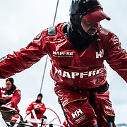 Leg 10, from Cardiff to Gothenburg, day 04 on board MAPFRE, Xabi Fernandez during a peeling. 13 June, 2018.