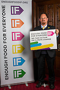 Julian Huppert MP supporting the Enough Food for Everyone?IF campaign. .MP's and Peers attended the parliamentary launch of the IF campaign in the State Rooms of Speakers House, Palace of Westminster. London, UK.