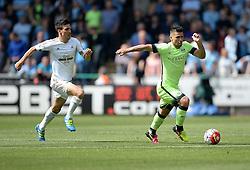Sergio Aguero of Manchester City - Mandatory by-line: Alex James/JMP - 15/05/2016 - FOOTBALL - Liberty Stadium - Swansea, England - Swansea City v Manchester City - Barclays Premier League