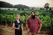 Dan Rinke and Morgan Hall wine makers at Johan Vineyards in Rick Reall, Oregon