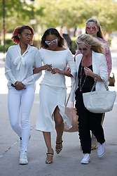 Melanie Brown aka Mel B leaves court in Van Nuys, CA after a long opening day in a case bought against her by former nanny Lorraine Gilles. 21 Jul 2017 Pictured: Melanie Brown. Photo credit: MEGA TheMegaAgency.com +1 888 505 6342