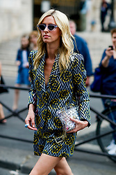 Street style, Nicky Hilton arriving at Schiaparelli Fall-Winter 2018-2019 Haute Couture show held at Opera Garnier, in Paris, France, on July 2nd, 2018. Photo by Marie-Paola Bertrand-Hillion/ABACAPRESS.COM
