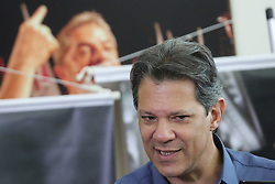October 3, 2018 - Sao Paulo, Sao Paulo, Brazil - The candidate for the presidency of Brazil by the Workers Party, Fernando Haddad, during a press conference for journalists in São Paulo. October 03, 2018. (Photo: Fábio Vieira/FotoRua) (Credit Image: © Fotorua/NurPhoto/ZUMA Press)
