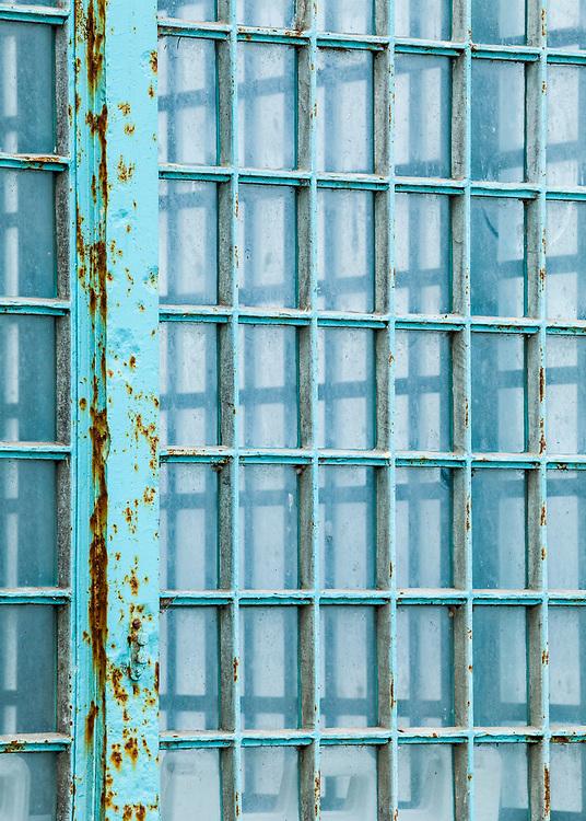 Alcatraz prison window detail. San Fransisco Bay, California, USA