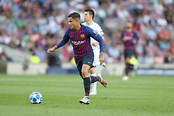 September 18, 2018 - Barcelona, Catalonia, Spain - Philippe Coutinho of FC Barcelona in action during the UEFA Champions League, Group B football match between FC Barcelona and PSV Eindhoven on September 18, 2018 at Camp Nou stadium in Barcelona, Spain (Credit Image: © Manuel Blondeau via ZUMA Wire)