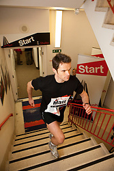 © under license to London News Pictures. 03/03/11. Celebrity personal trainer, Matt Roberts, races up the 920 steps of London's Tower 42 building as part of Vertical Rush.  1000 runners took part in the Vertical Rush event, held by Shelter to raise money to  help homeless and badly housed families across the UK. Credit should read Matt Cetti-Roberts/LNP