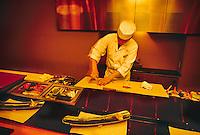 Preparing sushi, Hanagatami Restaurant, Ritz-Carlton Osaka, Osaka, Japan