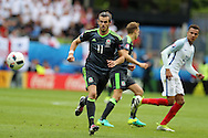 Gareth Bale of Wales in action.Euro 2016, group B , England v Wales at Stade Bollaert -Delelis  in Lens, France on Thursday 16th June 2016, pic by  Andrew Orchard, Andrew Orchard sports photography.