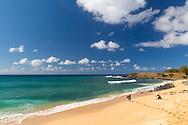 Kepuhi Beach, also known as Kaluakoi Beach, on the east side of Molokai, Hawaii, USA