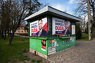 Plakaty wyborcze kandydatow w wyborach prezydenckich