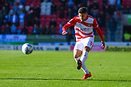 Danny Andrew of Doncaster Rovers (3) passes the ball during the EFL Sky Bet League 1 match between Doncaster Rovers and Coventry City at the Keepmoat Stadium, Doncaster, England on 4 May 2019.